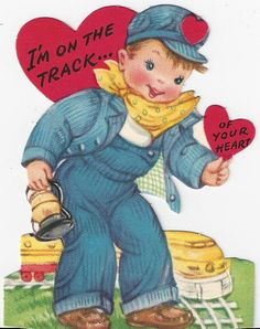 Makes me think about my uncle Tuffy. Valentine Images, Holiday Images, My Funny Valentine, Valentines Art, Vintage Valentine Cards, Valentines For Boys, Vintage Greeting Cards, Vintage Ephemera, Vintage Holiday