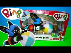 Swimming Bing Bath Toy Unboxing and Demo BBC Cbeebies Bing TV Show | Kids Play O'clock - YouTube