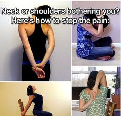 Try these simple stretches next time you get a kink or a cramp!   Add me as a friend! I am always posting awesome tips, yummy recipes and fun stuff on my timeline! www.facebook.com/annie.moon1.sbc