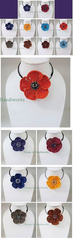 Other Wholesale Necklaces 56148: 10X Flower Crochet Choker Necklace Thai Handmade Crafts Mix Color Women Fashion -> BUY IT NOW ONLY: $69 on eBay!