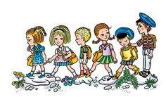 illustration Helena Zmatlíková : Děti z Bullerbynu Illustrators, Comics, Retro, Czech Republic, Illustration Children, Children Books, Prague, Children's Books, Kid Books