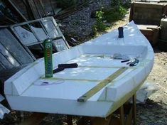 Bildergebnis für building a boat out of foam Make A Boat, Build Your Own Boat, Diy Boat, Plywood Boat Plans, Wooden Boat Plans, Wooden Boat Building, Boat Building Plans, Duck Boat Blind, Boat Blinds