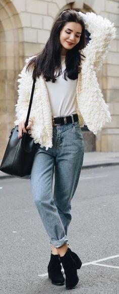 Lolita Mas Cream Shaggy Jacket Fall Inspo #Fashionistas