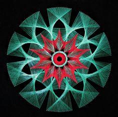 String Art, Mandala Home Decor/DIY by Hightqualityart on Etsy Mandala Art, Mandala Drawing, Yin Yang, String Wall Art, Special Wedding Gifts, Zen Design, String Art Patterns, Moving Gifts, Perspective Art