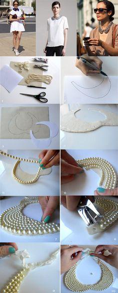 Elegante collar de perlas DIY