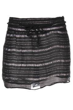 Jupes Mini-jupe VIRGINIE CASTAWAY - couleur NOIR - matiere Viscose Metal