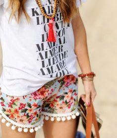10 Fashion DIYs: Pom-Pom-Trim Shorts. Spring is on the way - update your wardrobe with these easy seasonal DIYS