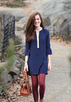 STYLISTE POUR EMPORTER: Comment porter des collants de couleur bourgogne