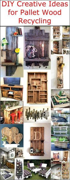 DIY Creative Ideas for Pallet Wood Recycling