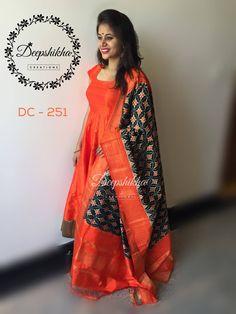 Order contact my WhatsApp number 7874133176 Indian Long Dress, Indian Gowns Dresses, Kalamkari Dresses, Ikkat Dresses, Kids Blouse Designs, Sari Blouse Designs, Kurta Designs, Long Gown Dress, Lehnga Dress