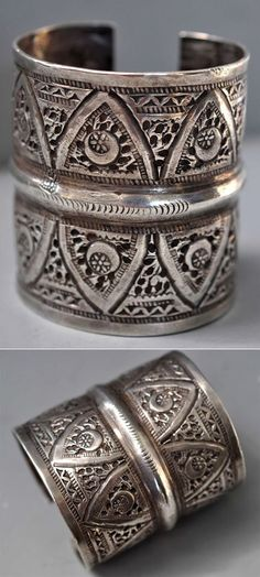 Libya   Cuff; cut though like lace. Has several hallmarks   Late 19th - early 20th century   POR