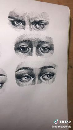 Art Drawings Sketches Simple, Pencil Art Drawings, Realistic Drawings, Cool Drawings, Biro Drawing Sketches, Sketches Of Eyes, Drawings Of Eyes, Easy Charcoal Drawings, Charcoal Drawing Tutorial