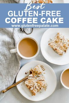 A tender, Gluten-Free Coffee Cake loaded with flavor and spices is the perfect breakfast to serve your family or out of town guests. This gluten-free coffee cake recipe is simple to make and quick to bake. Gluten Free Coffee Cake, Gluten Free Chocolate Cupcakes, Easy Gluten Free Desserts, Gluten Free Cupcakes, Gluten Free Sides Dishes, Gluten Free Recipes For Breakfast, Foods With Gluten, Gluten Free Baking, Sin Gluten