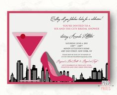 Sex and the City Bridal Shower Invitation - New York City (Printable) by PegsPrints