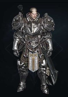 LostArk 3d Character, Character Concept, Character Design, Fantasy Concept Art, Fantasy Armor, Space Fashion, Armor Concept, Crusaders, Fantasy Characters