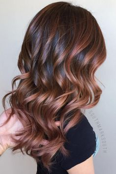 BRUNETTE: Chocolate Rose Gold Hair