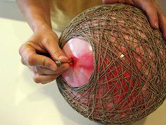 Lampenschirm basteln - wie Sie aus Hanf eine Pendelleuchte schaffen