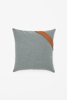 COS image 4 of Square leather strap cushion in Jade