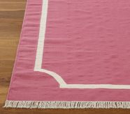 Dhurrie Border Rug 8' x 10' Bright Pink  i don't know which pink to use!
