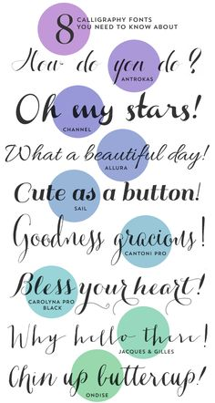 Jan 8, 2014Top Eight Calligraphy Fonts  by Britt DouglasTop Eight Calligraphy Fonts  || via Gallery No. Eight