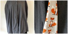 Wool blend outer, 100% cotton lining Size M