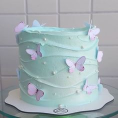 Creative Birthday Cakes, Elegant Birthday Cakes, Cute Birthday Cakes, Beautiful Birthday Cakes, Creative Cakes, Designer Birthday Cakes, Birthday Decorations, Butterfly Birthday Cakes, Butterfly Cakes