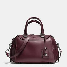 COACH Ace Satchel in Glovetanned Leather Handbags - All Handbags, Wallets & Small Accessories - Bloomingdale's Leather Satchel, Tan Leather, Leather Handbags, Leather Bags, Green Leather, Smooth Leather, Coach Handbags, Coach Bags, Coach Purses