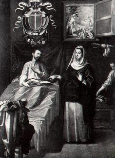 Francisco Pacheco, San Sebastián atendido por Santa Irene (1616) Obra destruida en la Guerra Civil