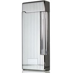 Caseti Ravensdale Chrome Plated Vertical Lines Flint Traditional Flame Lighter