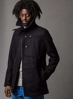 Couverture and The Garbstore - Mens - Garbstore - Melton Flight Suit Jacket