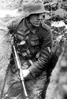 A German corporal on the Eastern Front. *Note his combat wound medal.