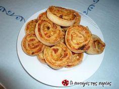 Γρήγορα, εύκολα, αρωματικά και πεντανόστιμα πιτσάκια ρολό. Ότι πρέπει για παρέα, μπυρίτσα και....Μουντιάλ. Greek Cooking, Cooking Time, Cooking Recipes, Savory Muffins, Party Finger Foods, Recipe Images, Greek Recipes, Other Recipes, Yummy Cakes