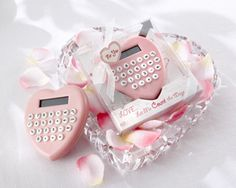 New Arrival 10PCS/LOT  Heart-Shaped Calculator+ wedding bridal shower favor party gifts $47.00