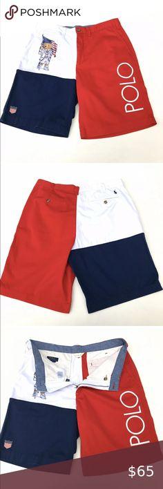 Polo Ralph Lauren RLX Men/'s Flat Front Shorts-Navy-XL
