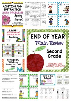 Do you need some new ideas for end of the year math review activities for your second graders? First graders need a challenge? Back to school and realize your third graders need some review? This Mega Math Review can help. Almost every single CCSS Standard is addressed by this packet. Everyday Math teachers will notice activities addressing ballpark estimate, frames and arrows, and diagrams such as part-part-total and quantity-quantity-difference