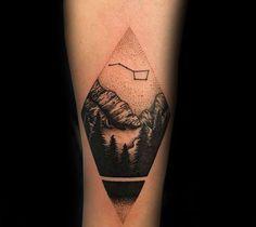 Guys Minimalist Big Dipper Dotwork Tattoo Designs