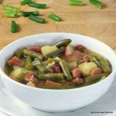 Low Carb, Hearty Ham and Green Bean Soup   Low Carb, Gluten-free, Dairy-free   Momcanihavethat.com