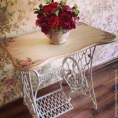 DIY Decor – Singer Sewing Machine – metal of life Handmade Furniture, Repurposed Furniture, Shabby Chic Furniture, Shabby Chic Decor, Vintage Decor, Vintage Furniture, Painted Furniture, Diy Furniture, Vintage Sweets