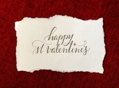 happy st. valentine's - I'm a little late with pinning this, but the calligraphy is still pretty!