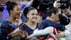The 2016 USA Women's Gymnastics Team... these ladies are awesome! And their star studded leotards match their golden status. According to NBC, each cost $1,200 to produce!