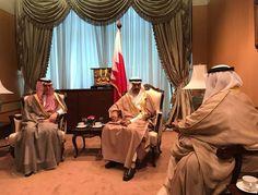 الوزير #عادل_الجبير يلتقي صاحب السمو الملكي الأمير خليفة بن سلمان آل خليفة رئيس الوزراء بمملكة #البحرين على هامش قمة حوار التعاون الآسيوي