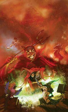 """Eric"" -- Sir Terry Pratchett's Discworld by marc simonetti, via Behance"
