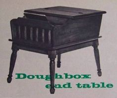 Doughbox End Table How-To Build PLANS Colonial Maple