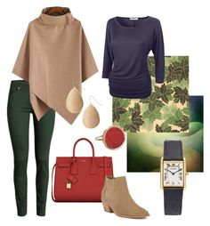 """""""Осень. Приглушенная."""" by inna-babich ❤ liked on Polyvore featuring H&M, Yves Saint Laurent, Barlow, Red Camel, Ginette NY, women's clothing, women, female, woman and misses"""