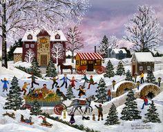 Lovely winter Christmas scene