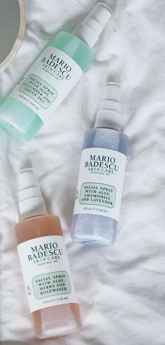 flat lay inspiration featuring the cult facial sprays from mario badescu # makeup products Mario Badescu Facial Spray Beauty Care, Beauty Skin, Beauty Hacks, Beauty Tips, Face Beauty, Diy Beauty, Makeup Spray, Make Up Inspiration, Facial Care