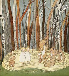 'Mapje en Papje in het Hazenbosch',  by Marie Hildebrandt, ill. by Sibylle von Olfers  Van Holkema & Warendorf, Amsterdam 1906