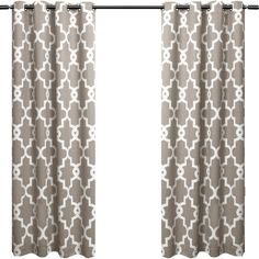 Features:  -Ironwork drapes offer a rich ironwork style pattern on luxurious thermal insulated fabric.  -Constructed from high quality woven polyester fibers with woven LightBlock and Thermax technolo