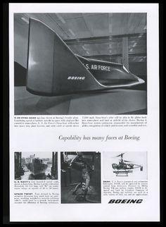 us air force ads | 1962 US Air Force X-20 Dyna-Soar spaceship plane photo Boeing vintage ...