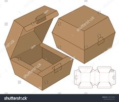 Find Box Packaging Die Cut Template Design stock images in HD and millions of other royalty-free stock photos, illustrations and vectors in the Shutterstock collection. Paper Box Template, Origami Templates, Box Templates, Box Packaging Templates, Jar Packaging, Diy Gift Box, Diy Box, Gift Boxes, Cardboard Box Crafts